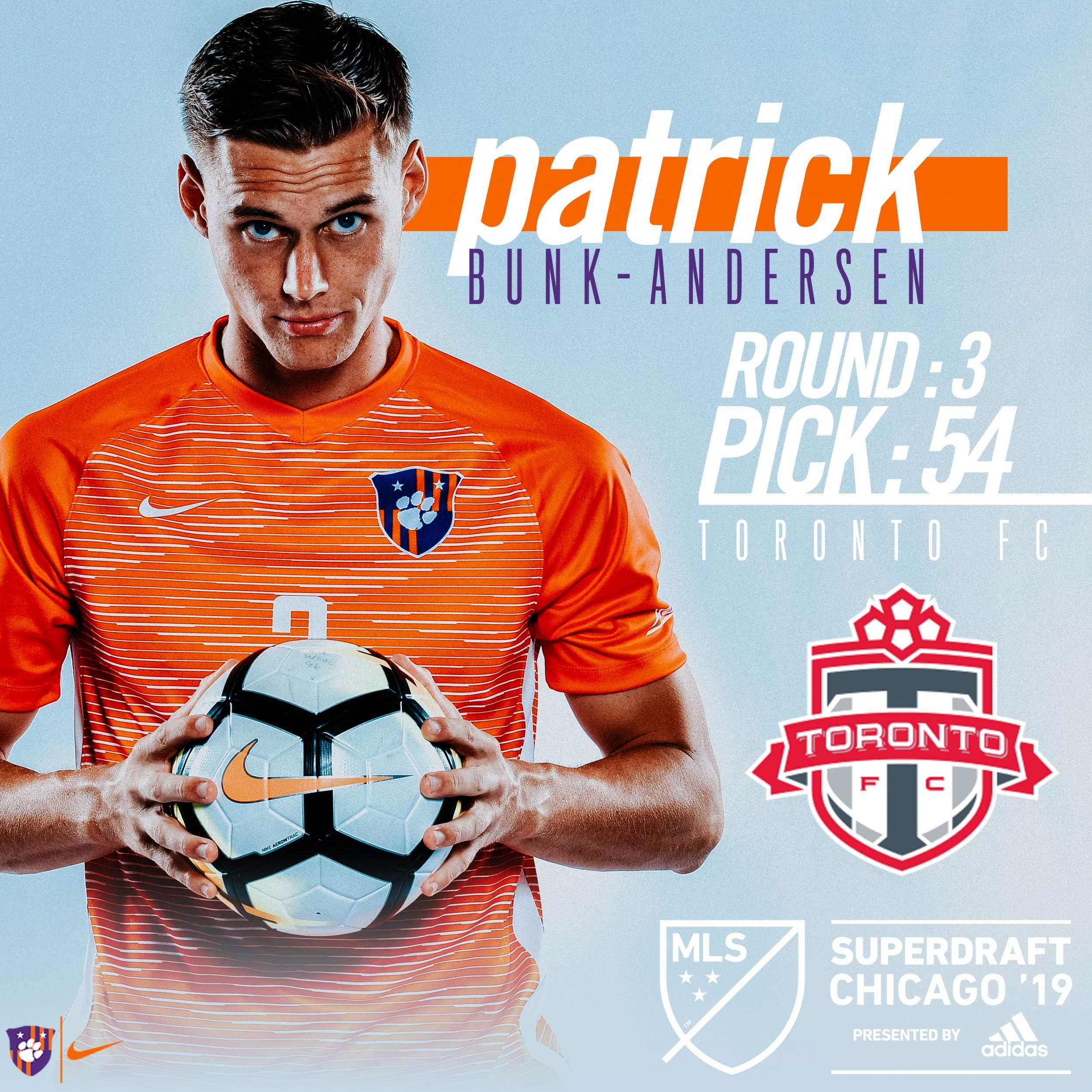Bunk-Andersen Selected in Third Round of 2019 MLS SuperDraft