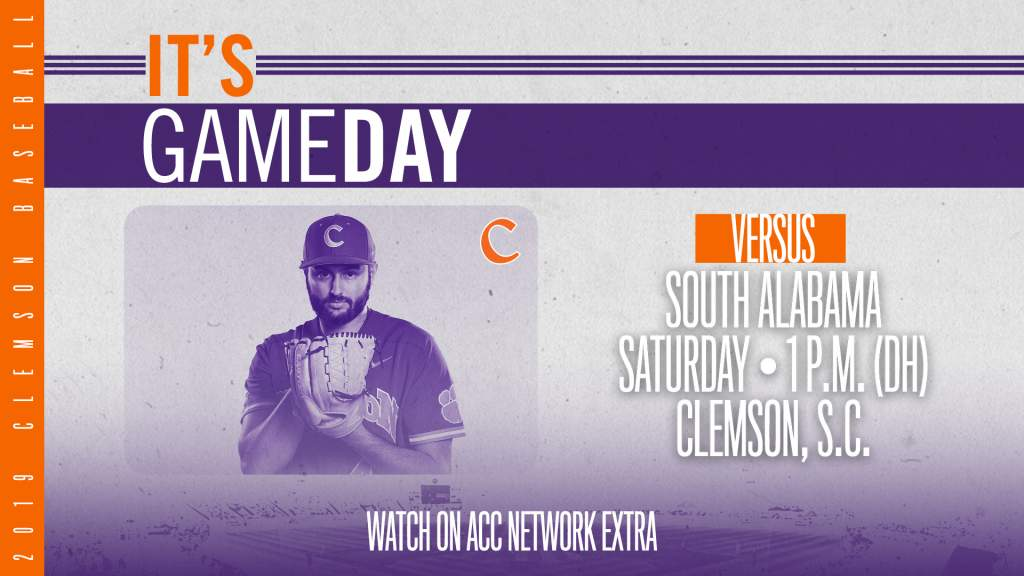 GAMEDAY – South Alabama at Clemson (Game 1 of DH)