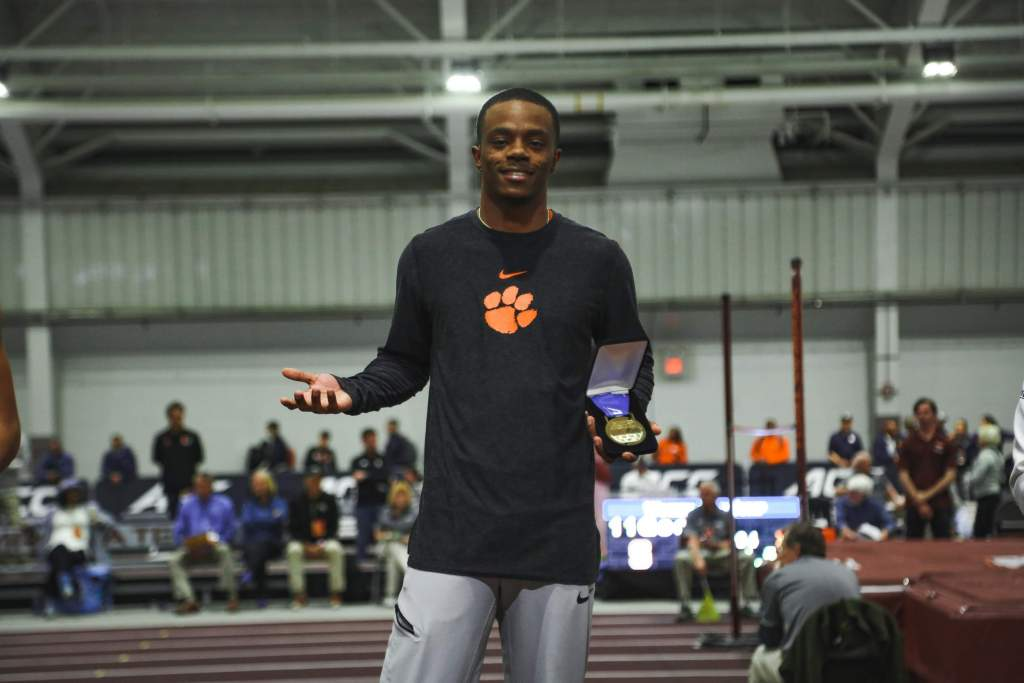 McBride Captures Second Career ACC Long Jump Title