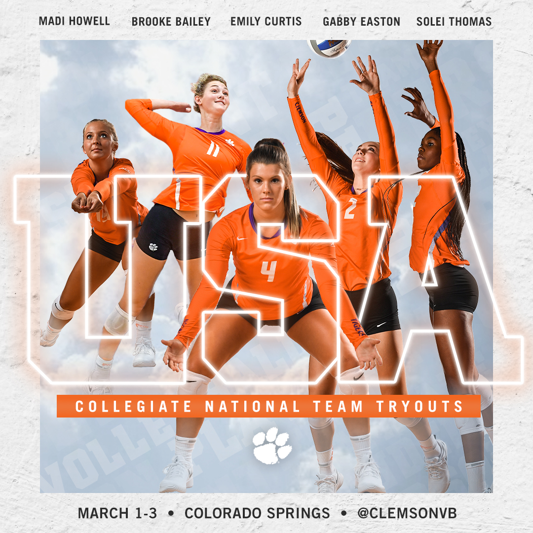 Five Tigers To Try Out For USA Volleyball's Collegiate National Team