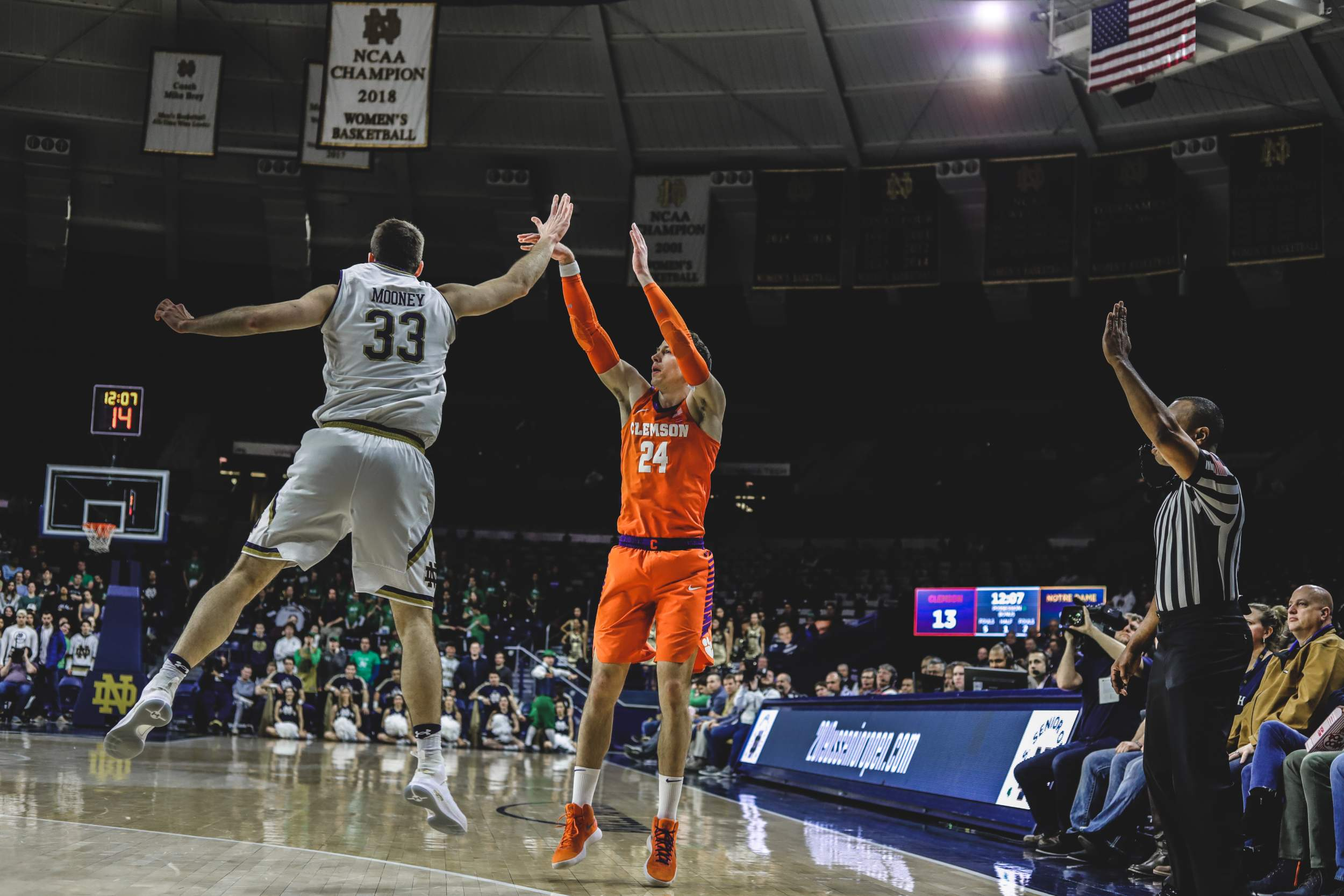 27812695510 Tigers Top Irish on the Road, 64-62 – Clemson Tigers Official ...