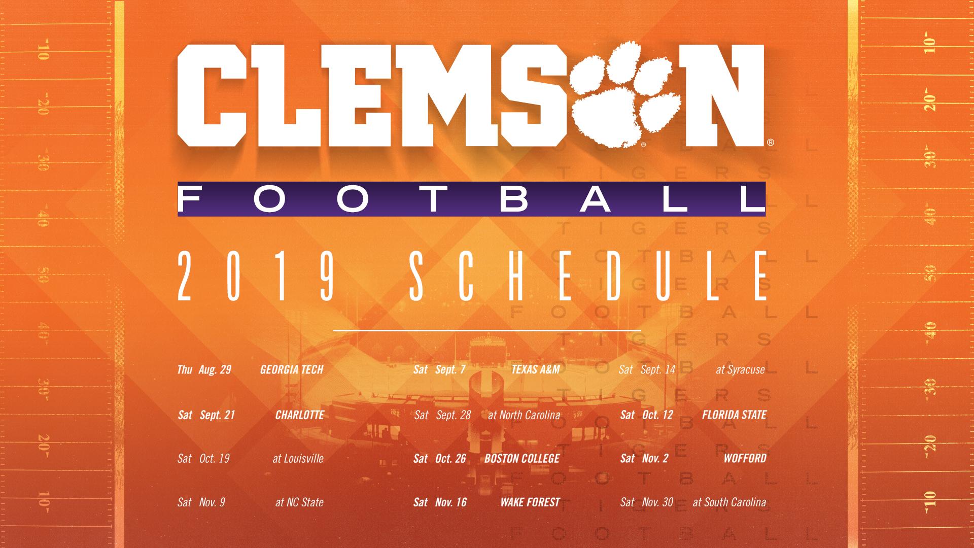 Clemson 2019 Calendar 2019 Clemson Football Spring Guide – SCHEDULE – Clemson Tigers