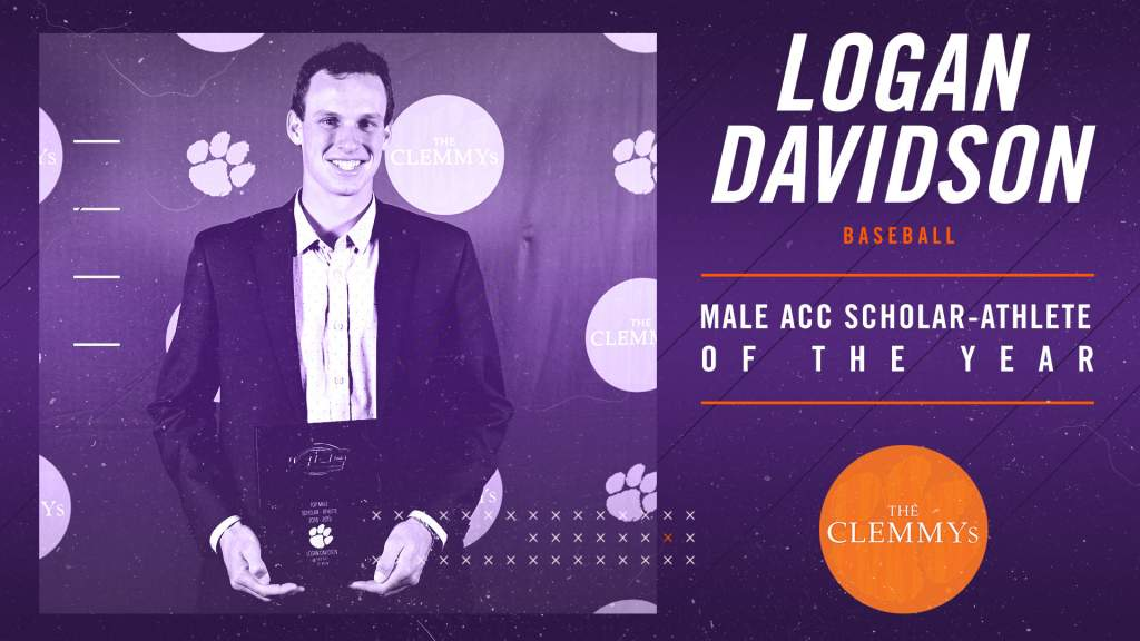Davidson Named Clemson's Top Male ACC Scholar-Athlete