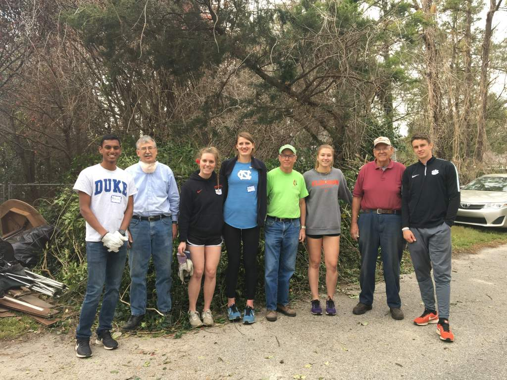 Student-Athlete Development Travels to Wilmington for Service Trip