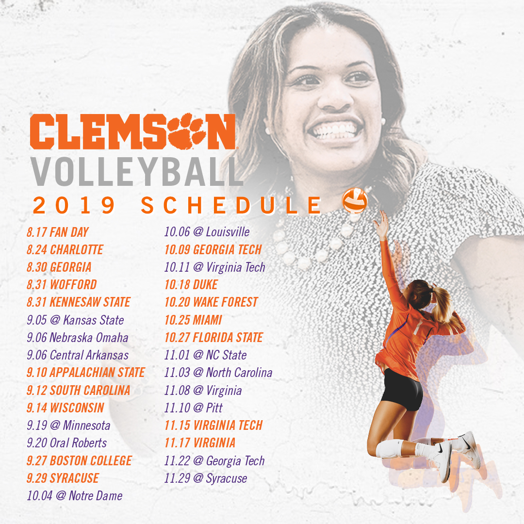 Volleyball Announces 2019 Schedule Clemson Tigers Official Athletics Site