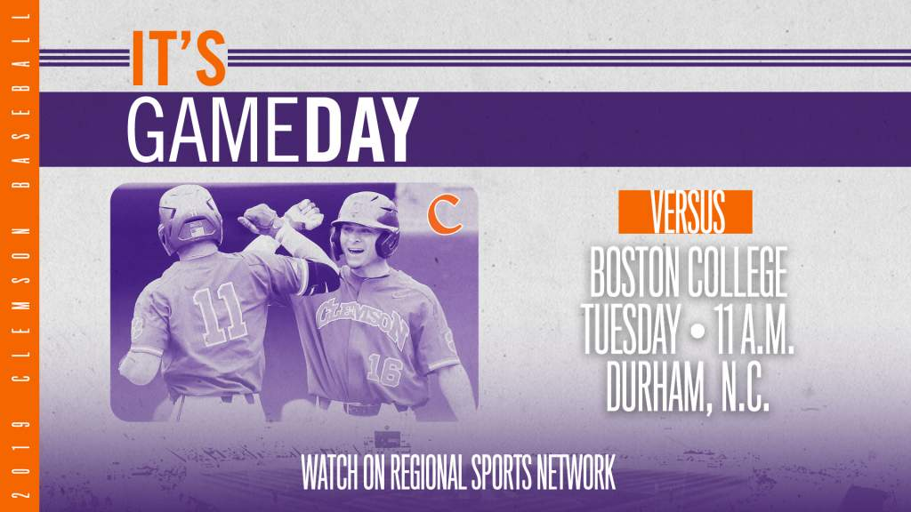 GAMEDAY – Boston College vs. Clemson