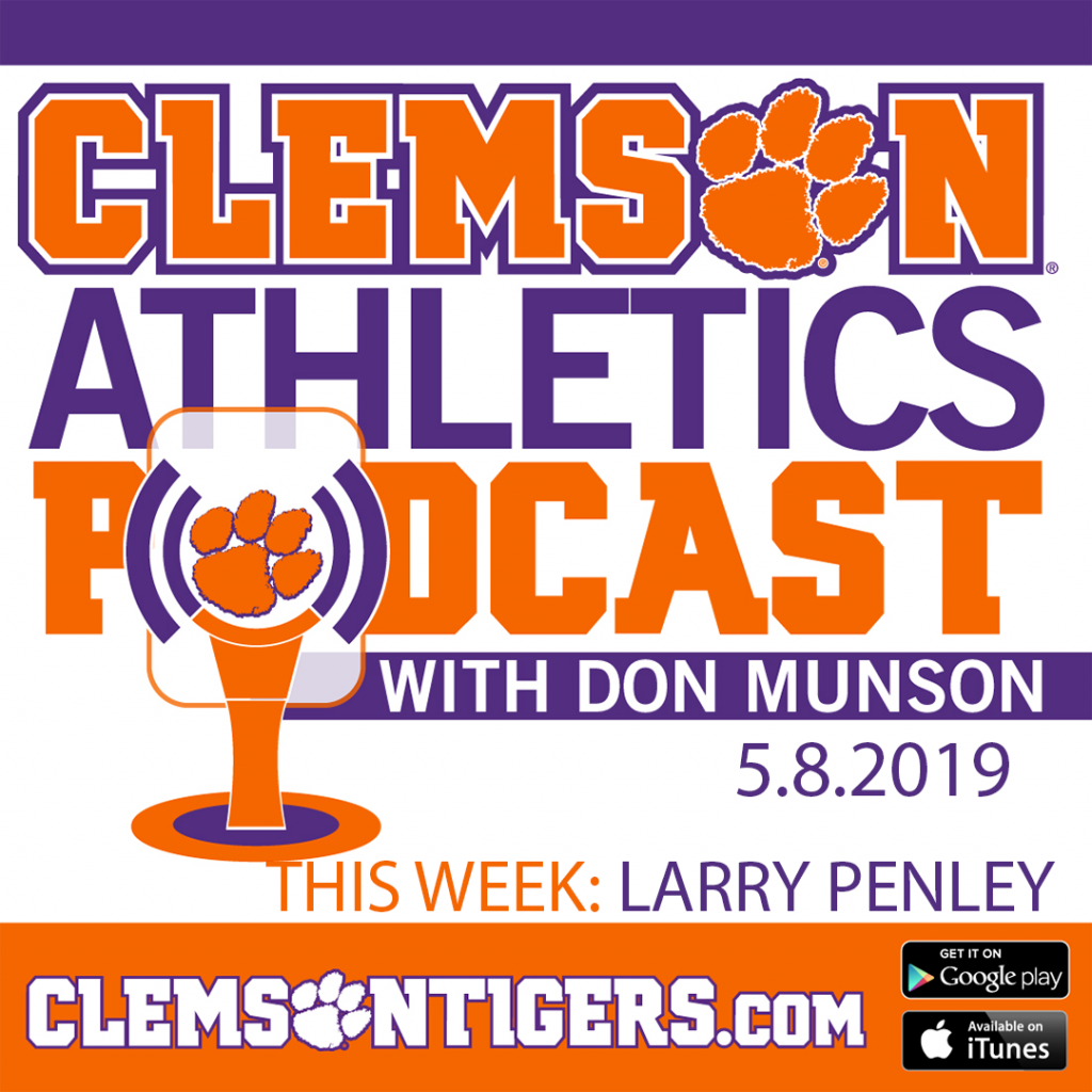 Clemson Athletics Podcast 5.8.2019 featuring men's golf coach Larry Penley