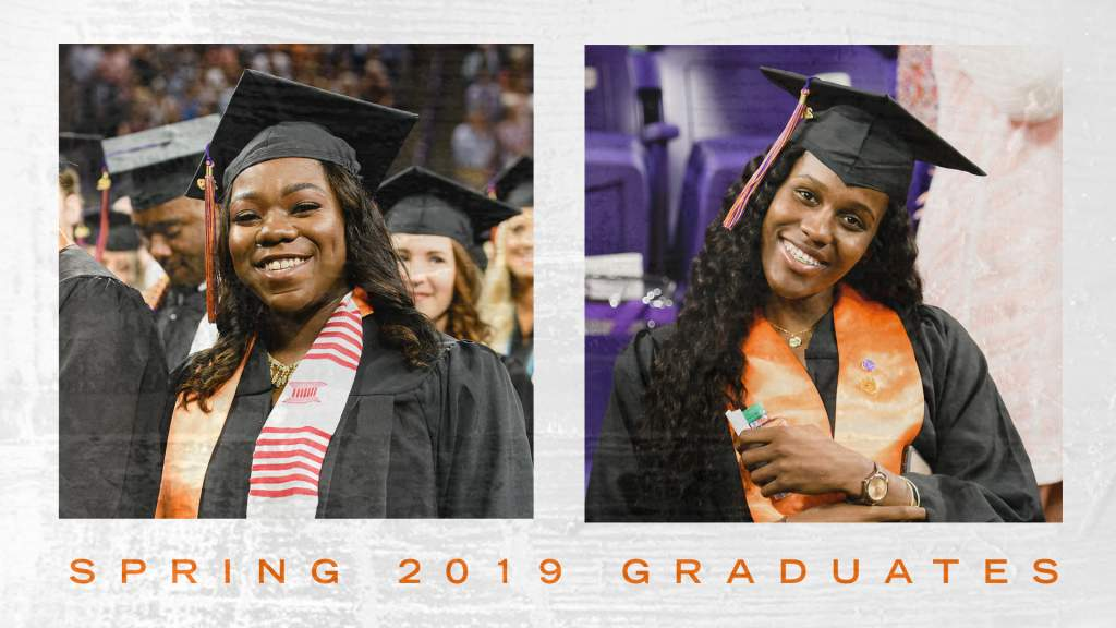 Two Walk the Stage for Clemson WBB