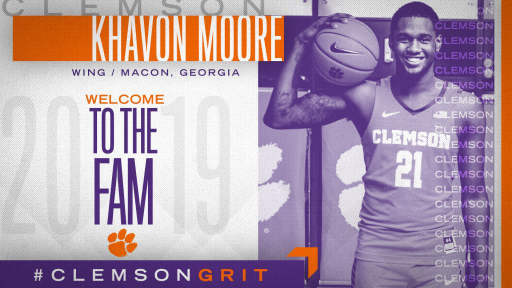 Clemson Officially Announces Addition of Khavon Moore