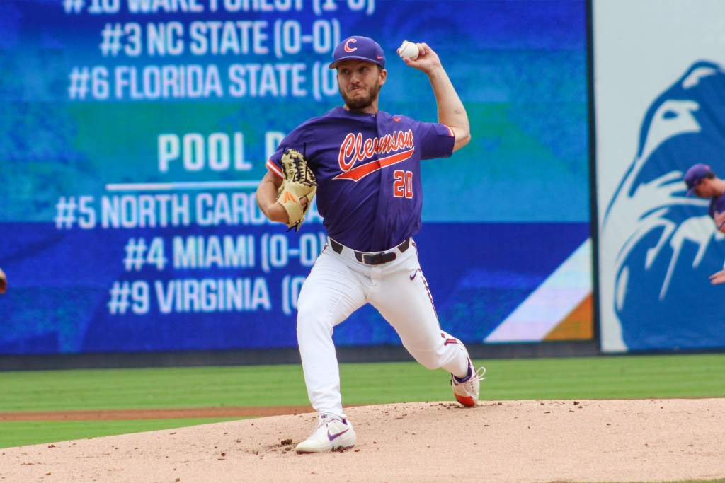 Clark Pitches Tigers Over No. 7 Cardinals 7-1 in ACC Tournament