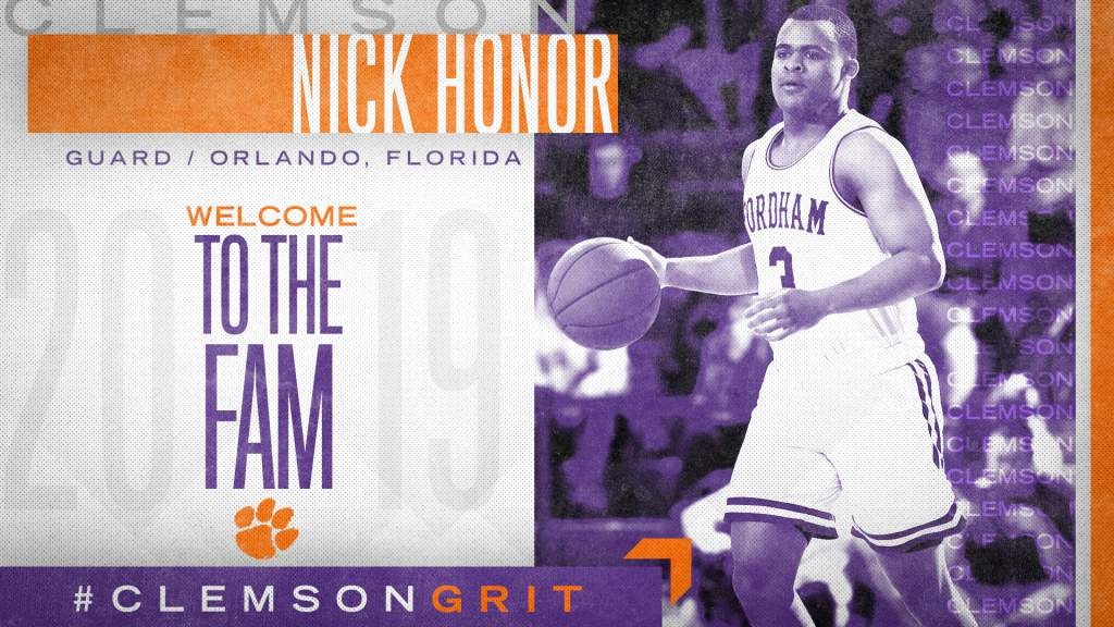 Clemson Adds A-10 All-Rookie Guard Nick Honor