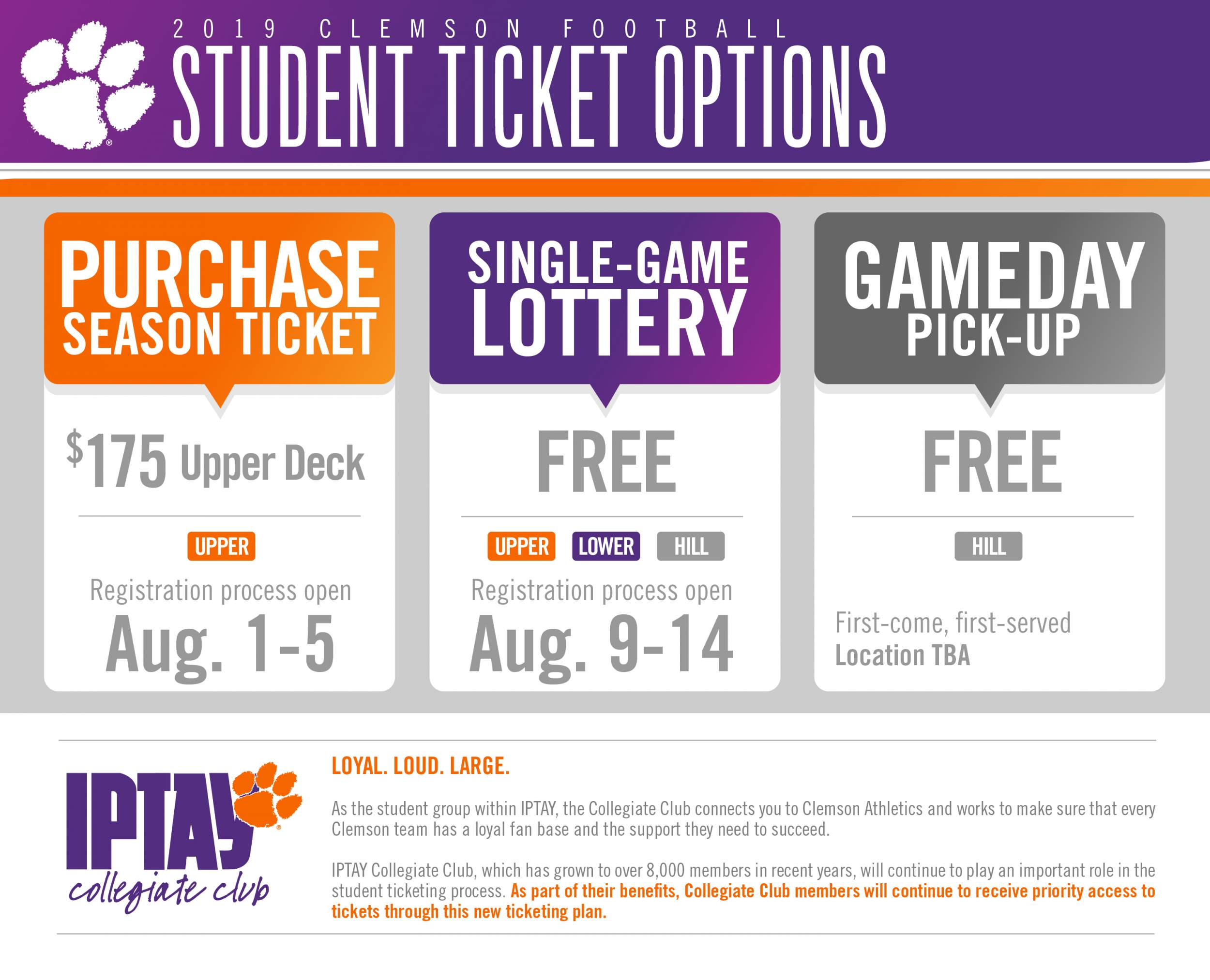 Student Tickets July 2019
