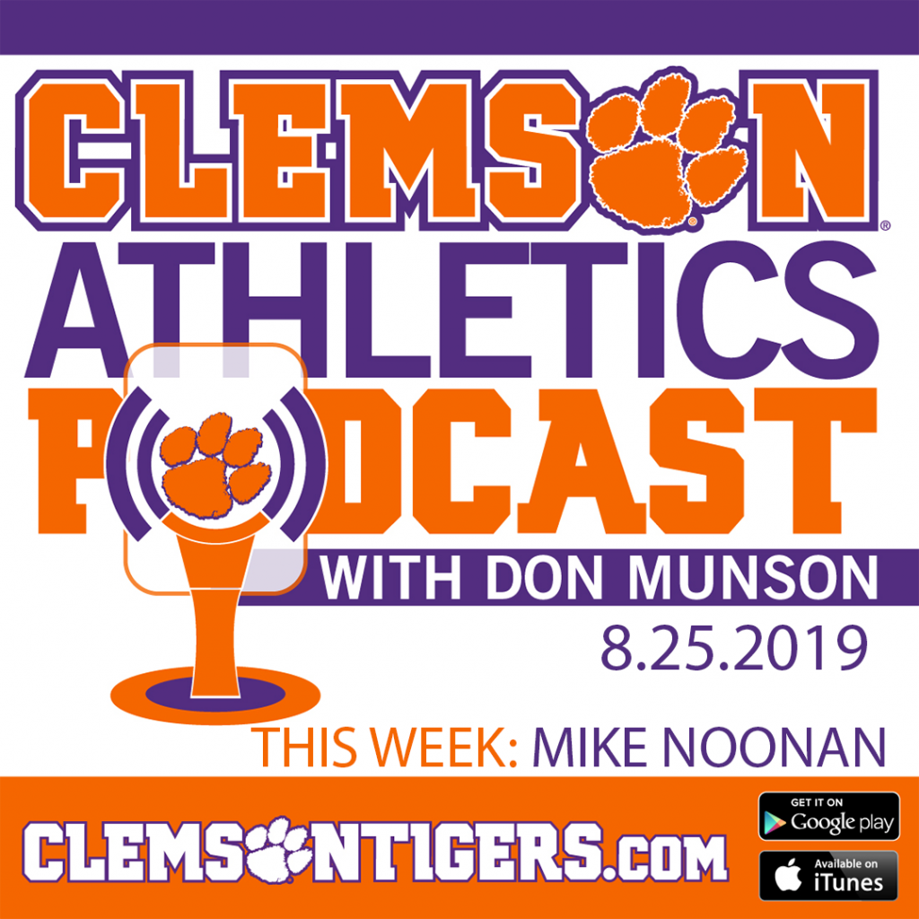 Clemson Athletics Podcast 8.23.2019 featuring men's soccer coach Mike Noonan