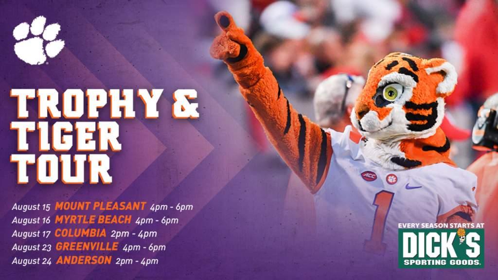Tiger & Trophy Tour Starts Aug. 15
