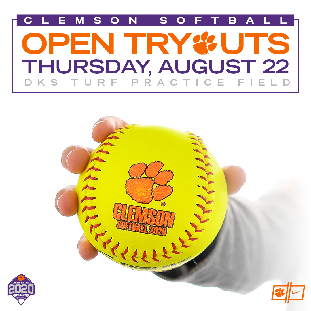 Clemson Softball To Hold Tryout Aug  22 – Clemson Tigers