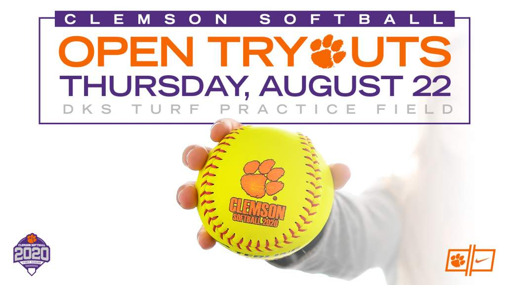 Clemson Softball To Hold Tryout Aug. 22