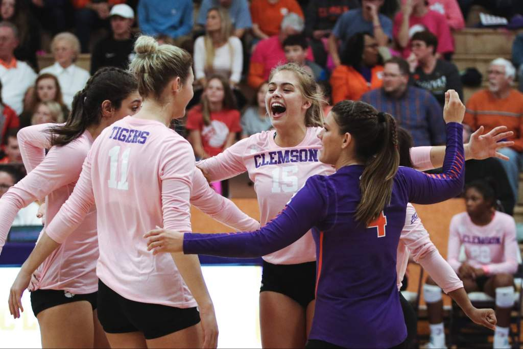 Clemson to Host Duke, Wake Forest for Dig Pink Match