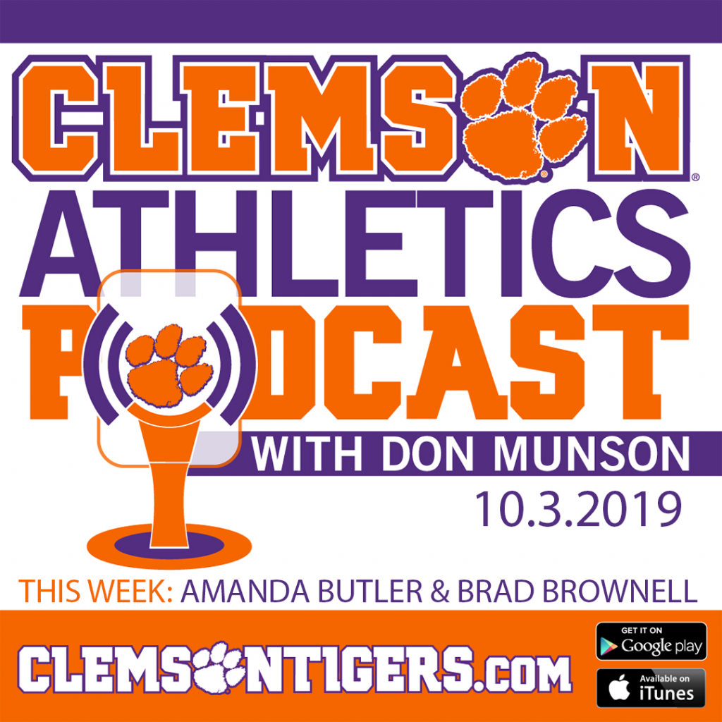 Clemson Athletics Podcast 10.3.2019 featuring Amanda Butler and Brad Brownell