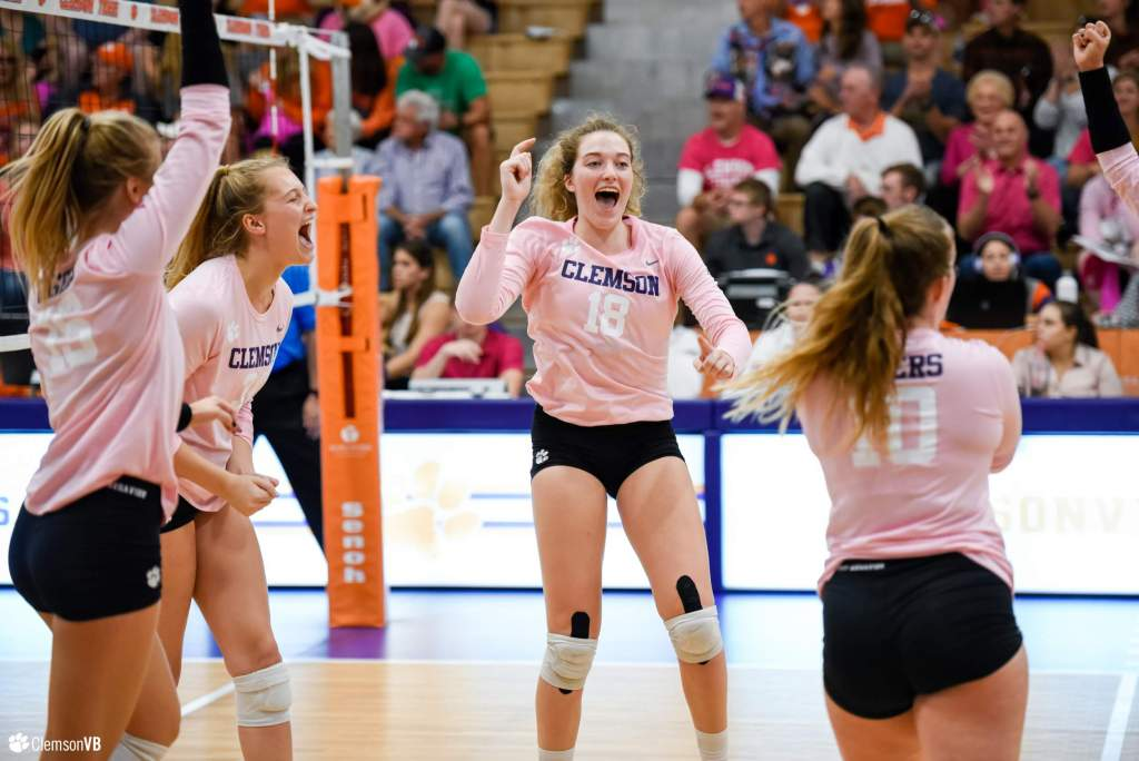 Tigers Sweep Wake Forest in Dig Pink Match