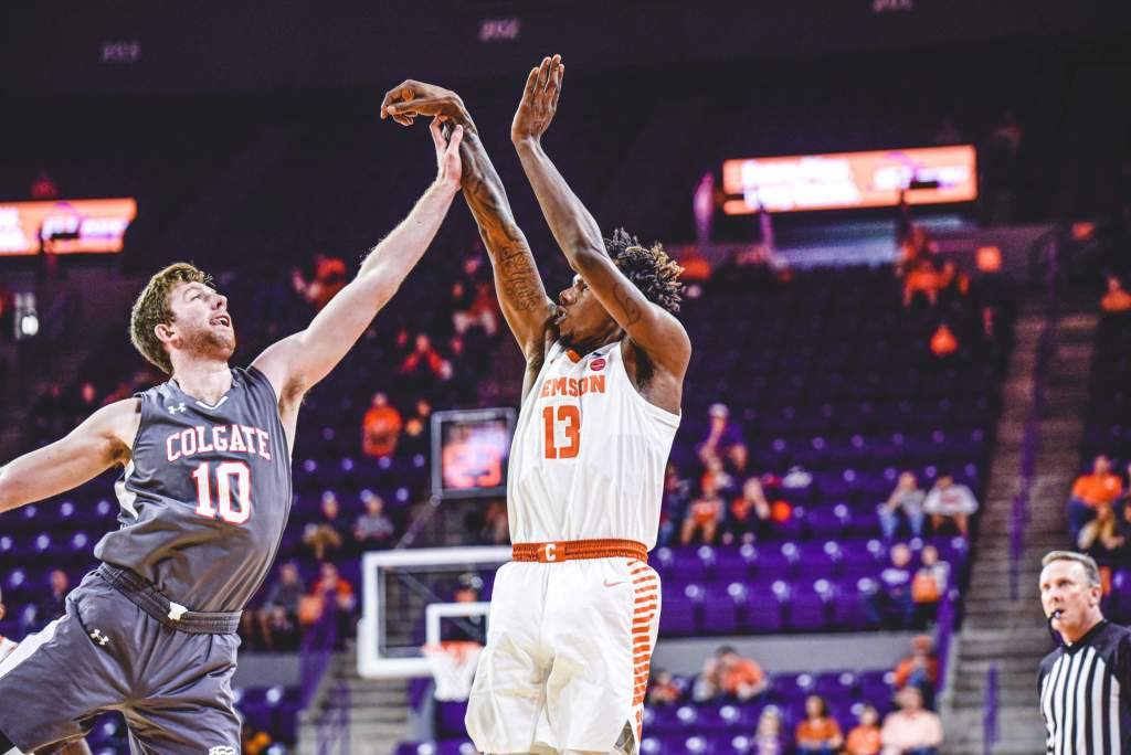 Clemson Pulls Away from Colgate, Wins 81-68