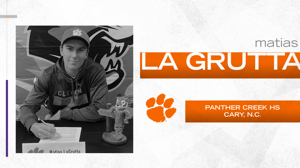 La Grutta Signs with Clemson Golf Program