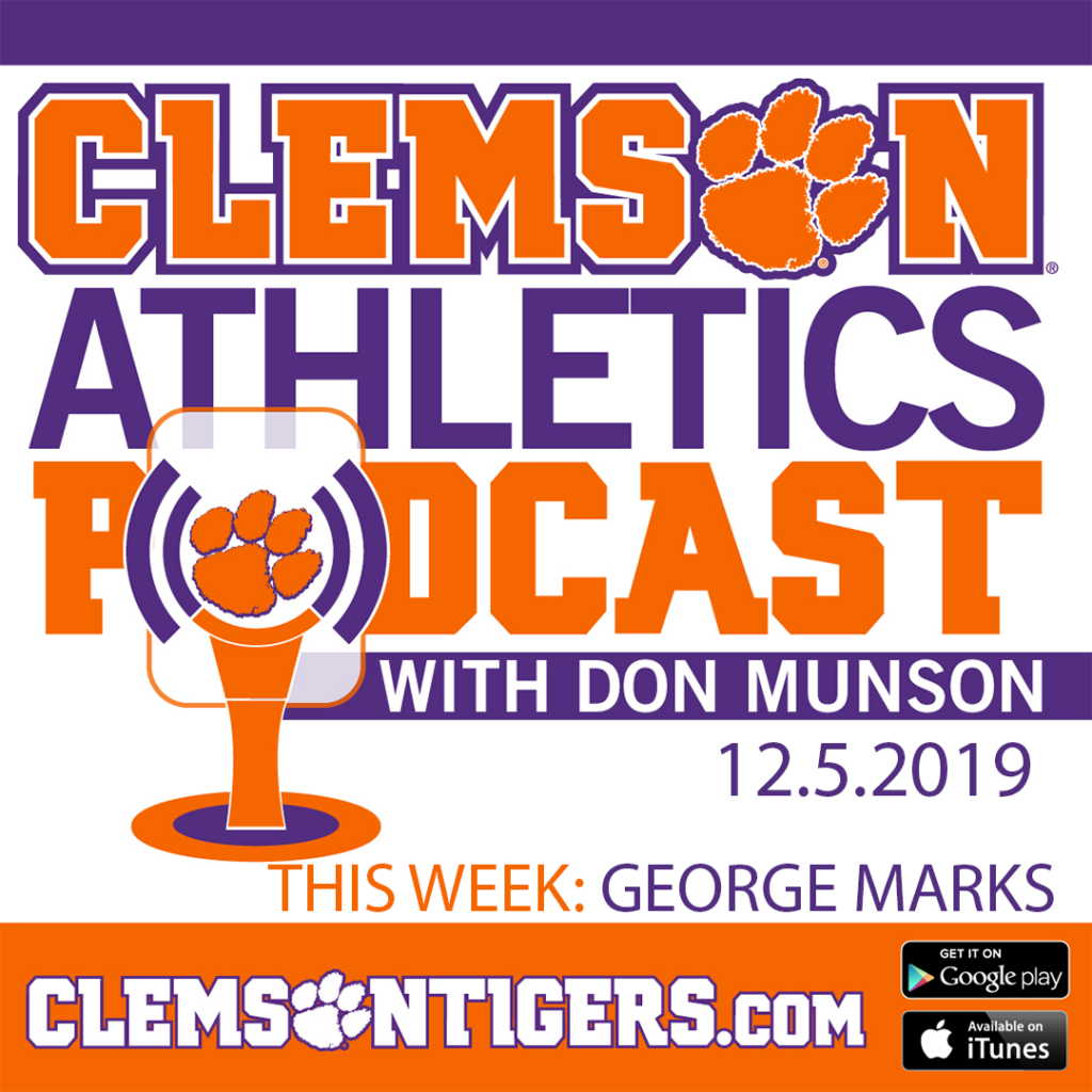 Clemson Athletics Podcast 12.5.2019 featuring men's soccer player George Marks