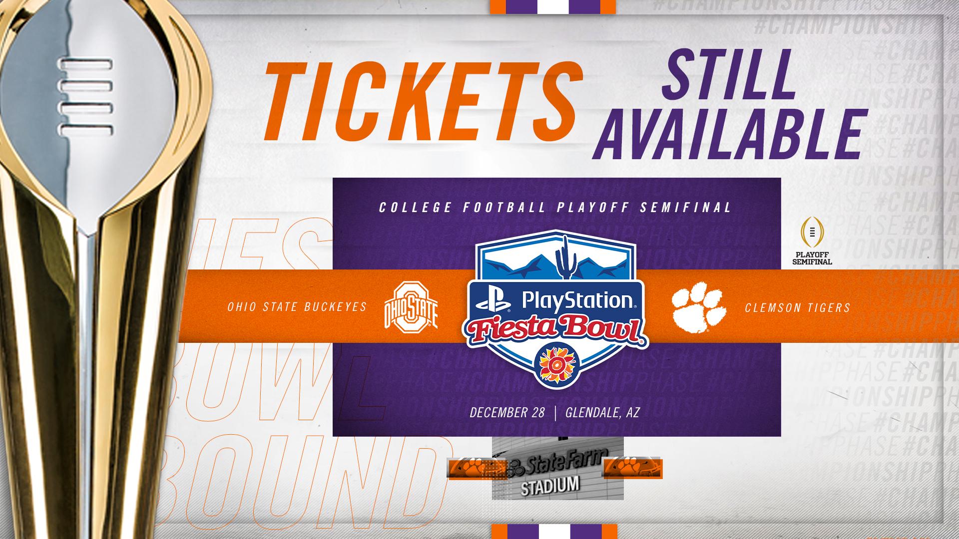 Tickets Still Available for Fiesta Bowl