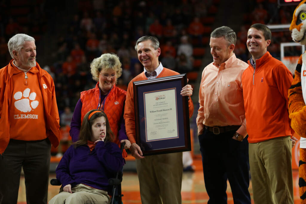 Don Munson Named Clemson Honorary Alumnus