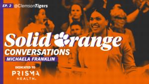 Play video: Solid Orange Conversations • Ep. 02 • Michaela Franklin
