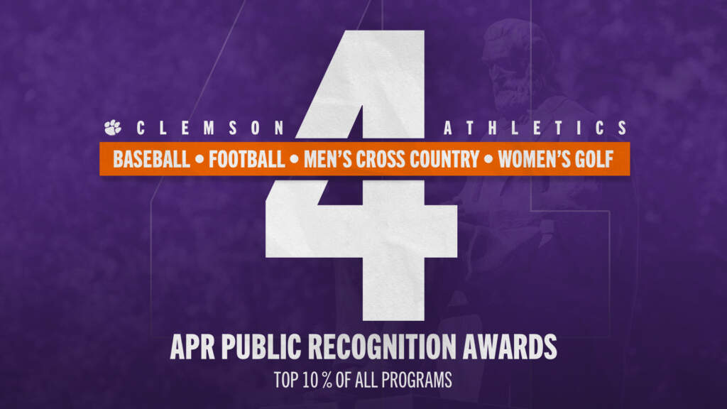 Four Clemson Programs Earn NCAA APR Public Recognition Awards