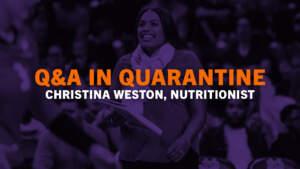 Play video: Q&A In Quarantine (Christina Weston, Ep. 1)