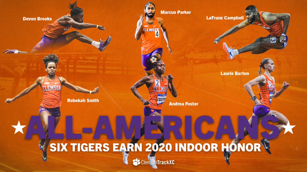 Six Tigers Earn Indoor All-America Honors