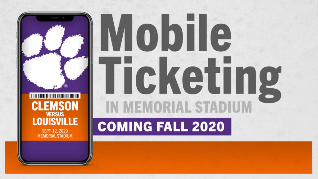 Clemson Athletics Moves To Mobile-Only Ticketing in 2020