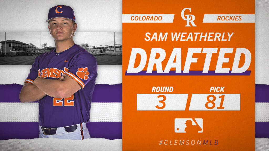 Weatherly & Strider Selected in MLB Draft