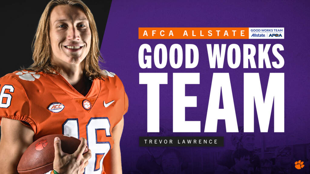 Lawrence Named to AFCA Good Works Team