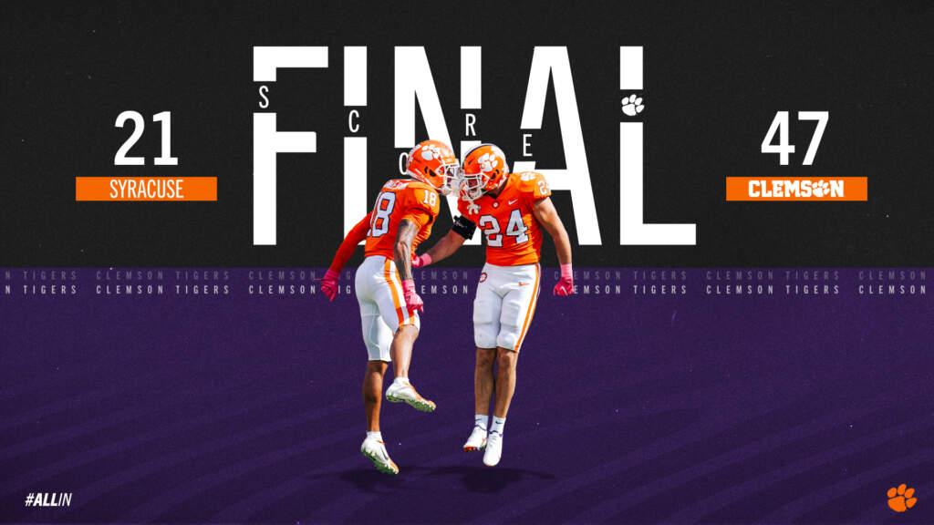 FINAL: Clemson 47, Syracuse 21
