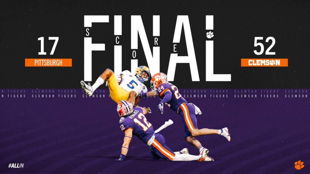FINAL: Clemson 52, Pitt 17