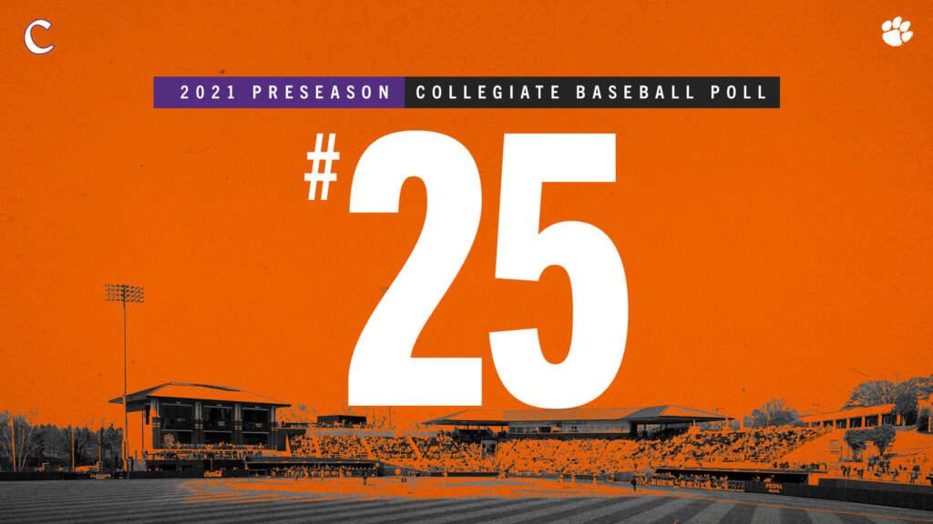 Tigers No. 25 in Collegiate Baseball Preseason Ranking