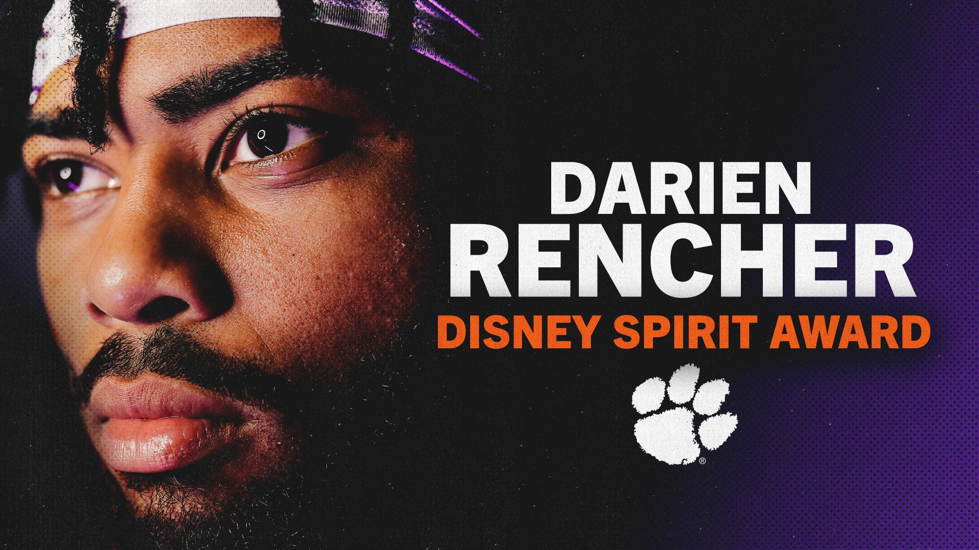 WATCH: Darien Rencher Wins Disney Spirit Award
