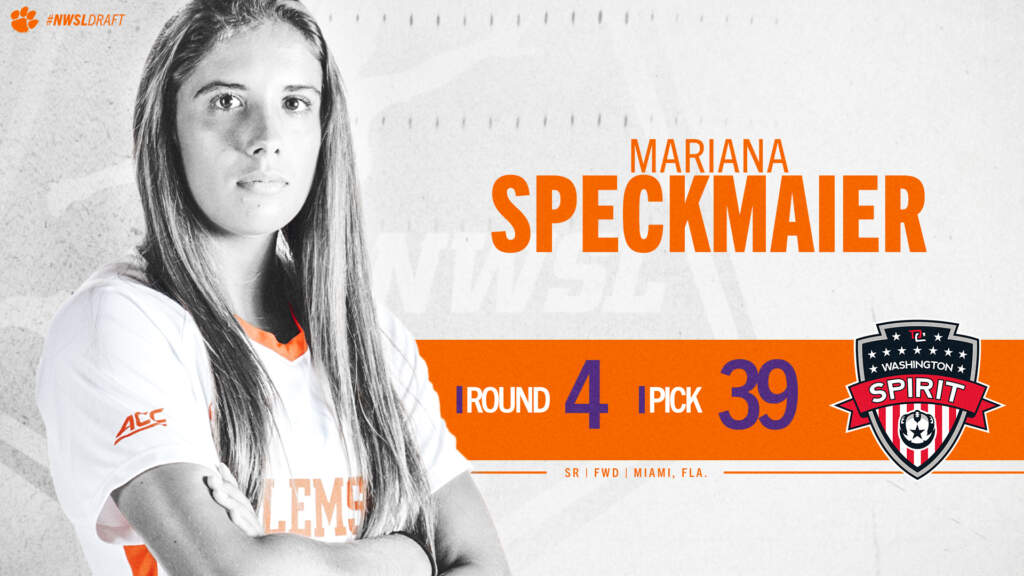 Speckmaier Selected 39th Overall by the Washington Spirit in 2021 NWSL Draft