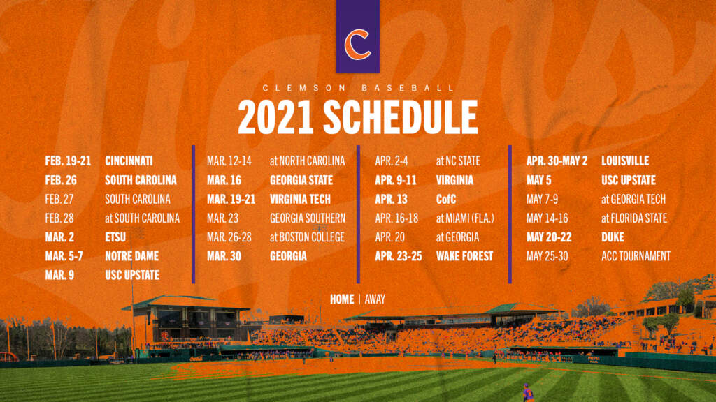 2021 Schedule Announced