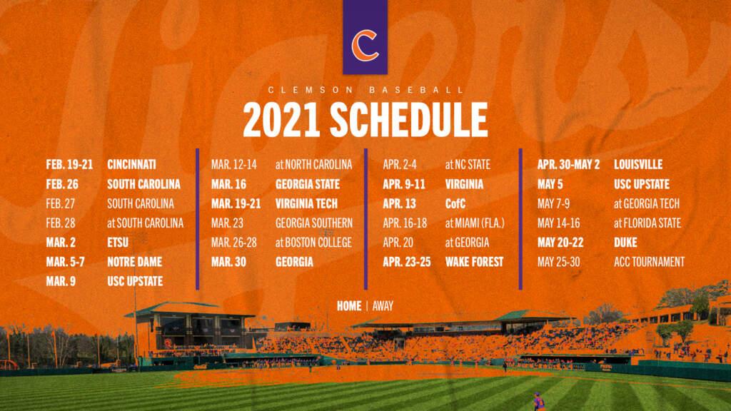 2021 Schedule Announced
