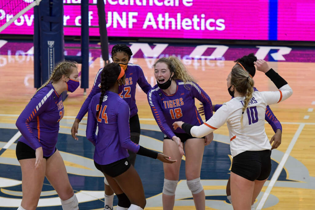 Clemson Fends off UNF Comeback in Five Sets