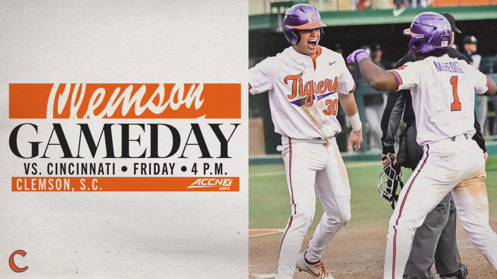 GAMEDAY – Cincinnati at Clemson