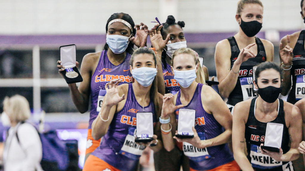 Women's DMR Shines on Day One of ACC's