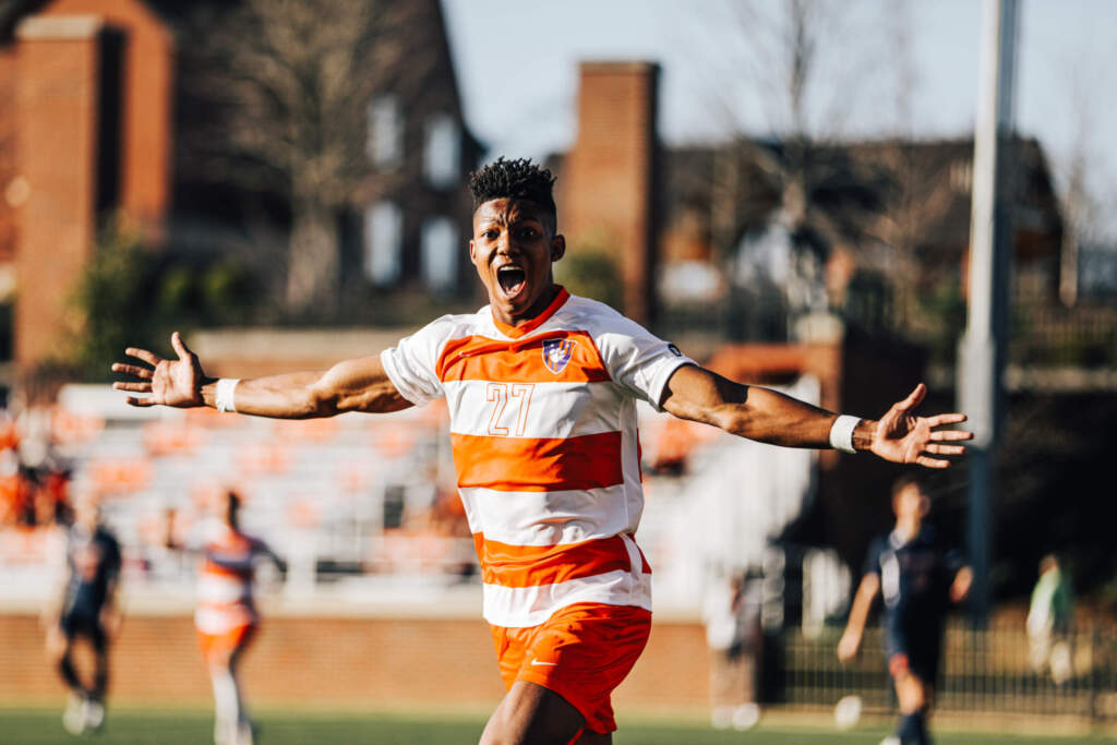 Johnson's Brace, Reid's First Career Goal Lead No. 1 Clemson to Victory