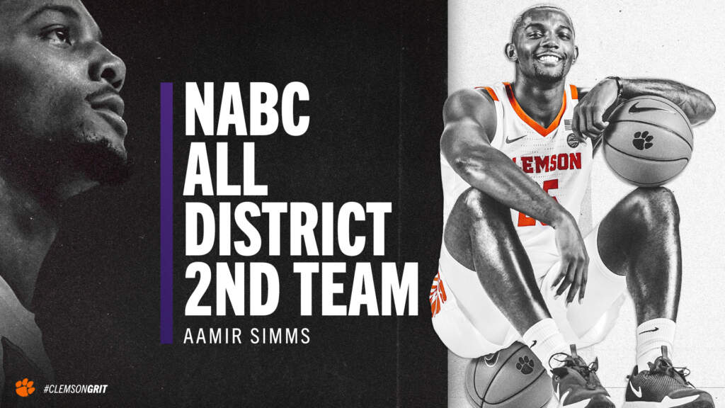 Aamir Simms Named NABC All-District Second Team