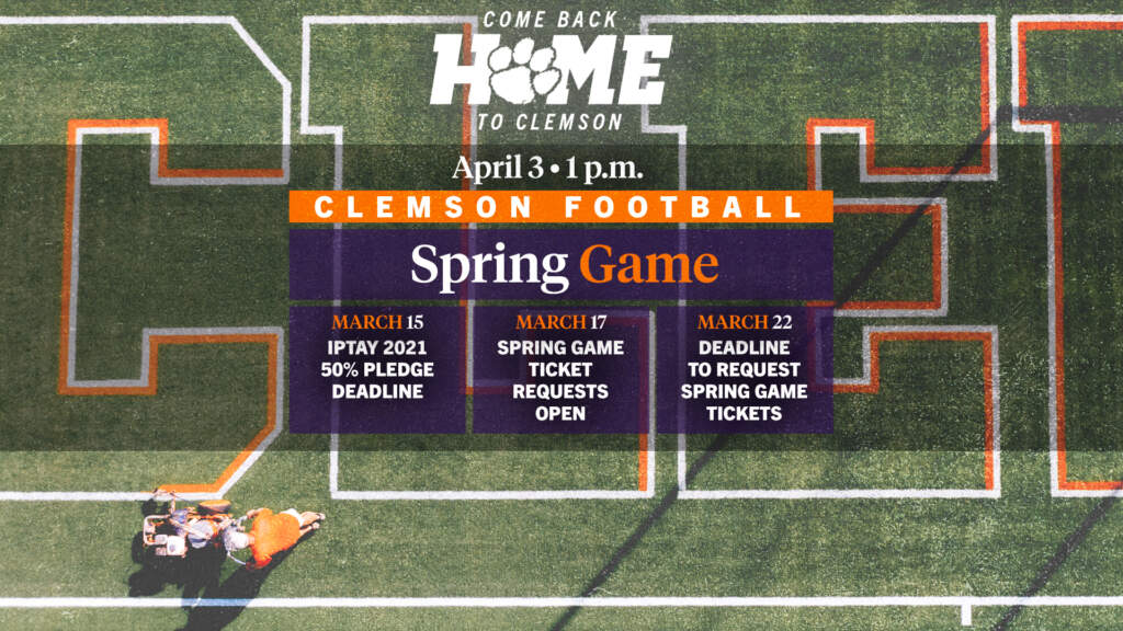 Clemson Football 2021 Spring Game Ticket Update