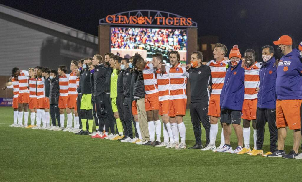 Nine Tigers Garner ACC Men's Soccer Recognition Wednesday
