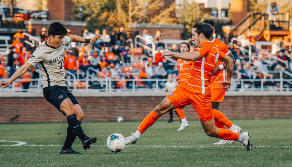 No. 1 Clemson, No. 4 Wake Forest Battle to Scoreless Draw Friday Night.